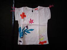 10 ans - tee-shirt fond blanc - MARESE - NEUF jamais porté, juste lavé