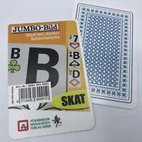 3 Skat Kartenspiele Club Jumbo Bild, Ideal bei Sehschwäche, Spielkarten Frobis