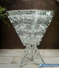 ART DECO FEIGL MORAWETZ LIBOCHOVICE ROCKET CLEAR PRESSED GLASS LENS VASE