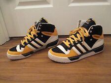 Used Worn Size 13 Adidas Attitude Hi Shoes Black White Yellow