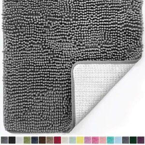 Gorilla Grip Original Luxury Chenille Bathroom Rug Mat, 30x20, Extra Soft and Ab