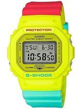 Casio G-Shock Protection Breezy Rasta Yellow Reggae Resin Band Watch DW5600CMA-9