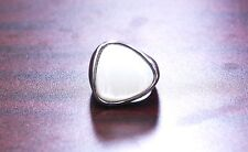Re-Priced Stainless steel triangular mother of pearl ring - Size 9
