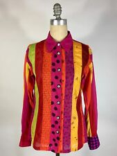 Modern Colorful cotton ALPANA BAWA shirt with OOAK hand-drawings by yours truly