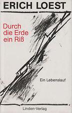DURCH DIE ERDE EIN RISS Autobiografie DDR Lebenslauf Erich Loest | Buch von 1990