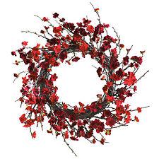 """20"""" Inch Plum Blossom Wreath Home Decor Flower Arrangement Door Fireplace Wall"""