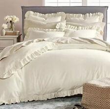 Martha Stewart Luxury Flannel Twin Comforter Cover Lux Ruffle