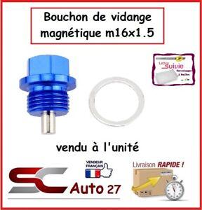 bouchon/ de vidange magnétique bleu auto/moto M16x1.5