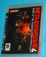 Metal Gear Solid 4 IV Guns Of The Patriots - Sony Playstation 3 PS3 - PAL