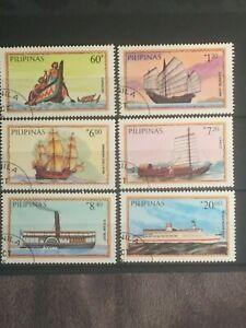 SCOTT #1718-1723 1984 PHILIPPINES SHIP STAMPS CTO