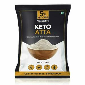 NutroActive Keto Atta (1g Net Carb Per Roti ) Extremely Low Carb Flour - 1kg