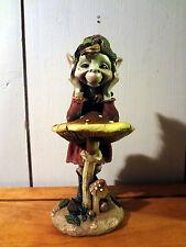 Elf/Pixie on mushroom statue #1