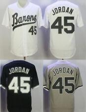 Vintage Jordan #45 Birmingham Baseball Jerseys Sewn 4 Colors All Stitched