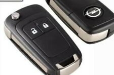 Coque 2 boutons lame pliable telecommande pour cle Vauxhall Opel Astra Insignia