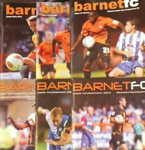 BARNET HOME PROGRAMMES SEASONS  2011/12 & 2012/13