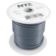 NTE Electronics WA10-08-100 HOOK UP WIRE AUTOMOTIVE 10 GAUGE GRAY STRANDED 100'