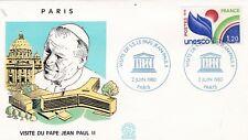 O172 F.D.C PARIS visite du pape Jean-Paul II pèlerinages De sa sainteté 1980
