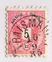 """AUTRICHE / AUSTRIA 1885 """" TRAISMAUER """" (gEj Klein 5257b) /Mi.46 p.9 1/2"""