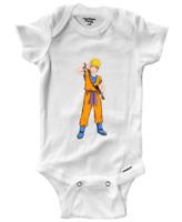 Infant Gerber Onesies Bodysuit Newborn Baby Gift Print Naruto Uzumaki Goku Anime
