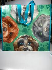 HomeGoods  Reusable Large Shopping Tote Beach Bag ~ Fluffy Dogs ~ NEW