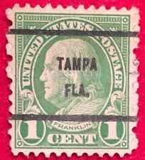 Tampa, Florida Precancel - 1 cent Franklin (U.S. #552-type) FL