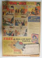 """Ralston Cereal Ad: Tom Mix """"Live Turtle"""" Premium from 1937 Size: 11 x 15 inches"""