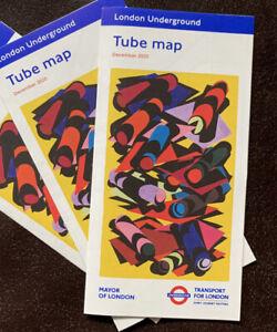 London Underground Tube Map - Current - December 2020 TFL - New 3 Pack Jan 2021