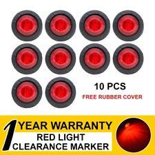 "10 x 3/4"" Red LED Truck Caravan Trailer Lorry ATV Bullet Side Marker Tail Lights"