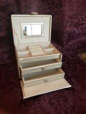 Jewelry Box Organizer Portable Travel Jewellery Ornaments Case Storage- Black
