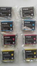 2 x Genuine Cartucce di inchiostro Epson T0715 (T0711 T0712 T0713 T0714) - ORIGINALE!!!