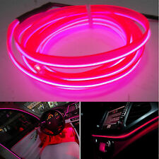 Pink 6.5ft Panel Gap Neon Light Strip Cold EL OLED Car Atmosphere Interior Trim