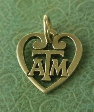 James Avery Retired Texas A&M Heart Charm Uncut Jump Ring