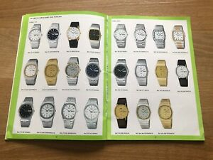 Used - Vintage Catalogue Seiko - Collection Watches 82 - Spanish