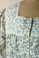 Victorian Trading Bonnie Blue Floral Flannel Nightgown LG Free Ship NIB