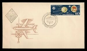 DR WHO 1959 HUNGARY FDC SPACE SPUTNIK IMPERF  g11250