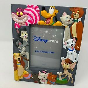 """Disney Store Dogs & Cats Picture Frame 3.5""""x5"""" Pluto Dalmatians Lady & the Tramp"""