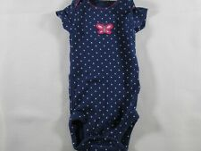 Carter's Newborn Blue with Polka Dots and Butterfly One Piece – Preowned