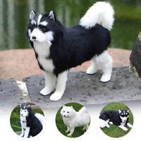 Realistic Lifelike Husky Dog Plush Toy Stuffed Fluffy Animal Toy Doll Kids Gift