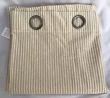 Pottery Barn Linen Blend Drape Curtain Beige Striped Size 50 X 108