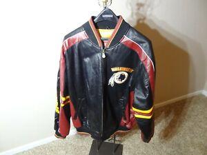 Vintage G-III and Carl Banks Washington Redskins NFL Leather Jacket size L