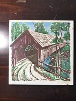 Bridge Tile Trivet - Retro Vintage WALL HANG - Wall Decor hot pad