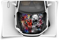Tiger Skull Totenkopf Blumen Schmetterling Bunt Motorhaube Auto-Aufkleber Folie