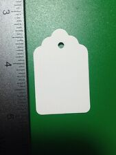 Lot 100 WHITE Unstrung Large Merchandise Clothes Price Tags BLANK Great Quality