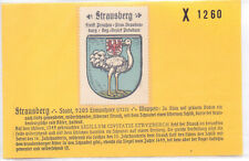 Reklamemarke Wappen von Strausberg Brandenburg  um 1925 (B500)