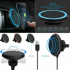 Fast Qi Wireless Car Charger Magnetic Phone Holder For iPhone X XS Max Xr 8 Plus