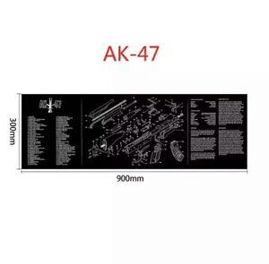 Gun Cleaning Mat Rubber Back High Quality -  AK47 (Brand New)