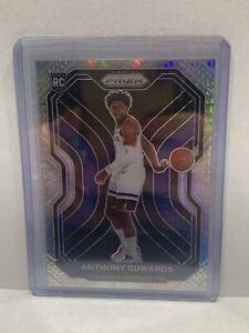 2020-21 Panini Prizm Hyper Prizm RC #258 Anthony Edwards Minnesota Timberwolves