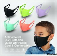 Pick 3! Kids Face Mask Quick Dry Tech Reusable Washable Protect Cover Breathable