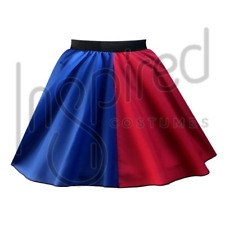 Ladies HARLEY QUINN Halloween Costume Skirt FANCY DRESS Jester / Harlequin SKIRT