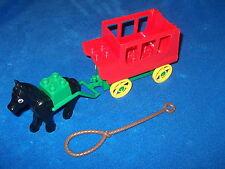 Lego Duplo Schloss Prinzessin Ritterburg Western große Kutsche Rot Grün + Pferd